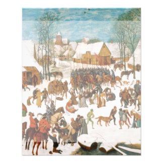 Massacre of the Innocents by Pieter Bruegel Flyer