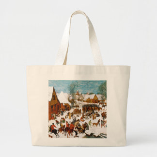 Massacre of the Innocents by Pieter Bruegel Large Tote Bag