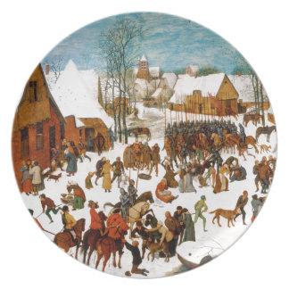 Massacre of the Innocents by Pieter Bruegel Melamine Plate