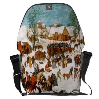 Massacre of the Innocents by Pieter Bruegel Messenger Bag