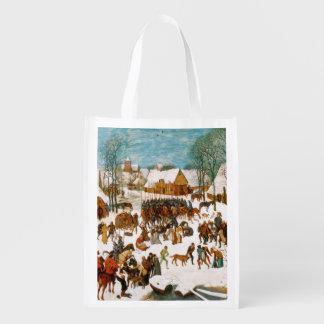 Massacre of the Innocents by Pieter Bruegel Reusable Grocery Bags