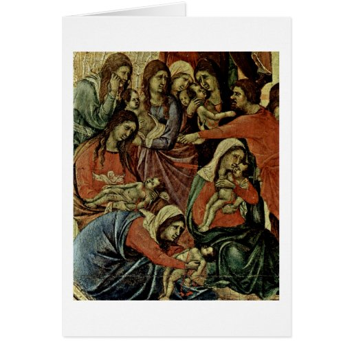 Massacre Of The Innocents Detail By Duccio Greeting Card