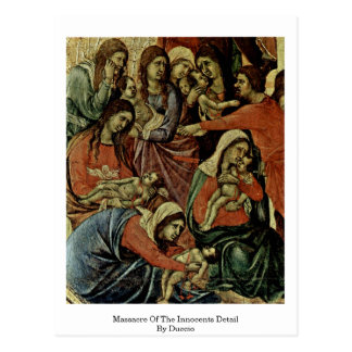 Massacre Of The Innocents Detail By Duccio Postcard