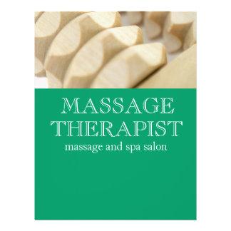 Massage and therapist custom flyer