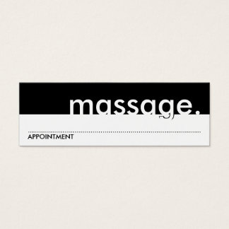 massage. (appointment card) mini business card