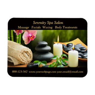 Massage Bamboo Orchid Stones Candle Magnet