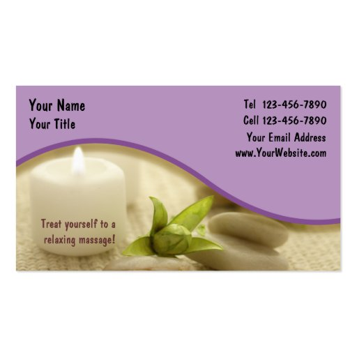 Massage Business Card 1 Double Sided Standard Business