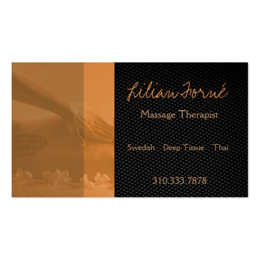 Massage double sided standard business cards pack of 100 for Massage business card templates