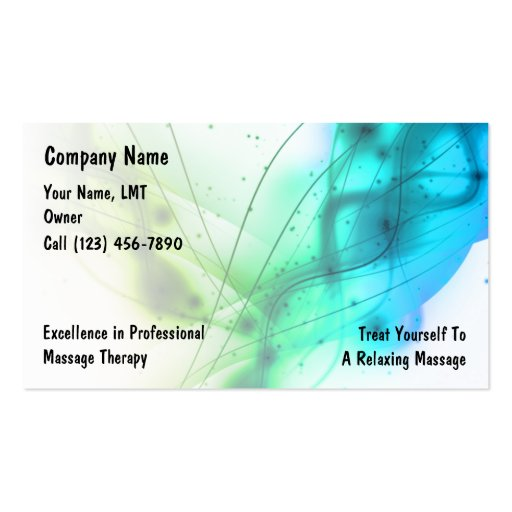 Massage Business Cards (front side)