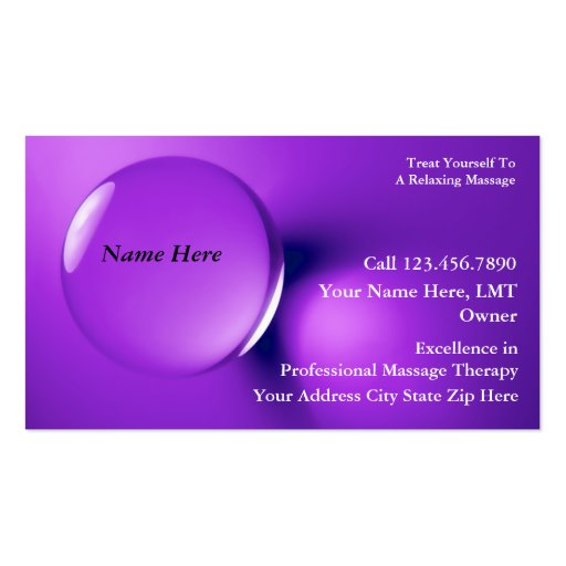 Massage Business Cards 3700 Massage Business Card Templates