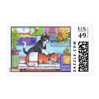 Massage Cats Stamp (Bud & Tony)