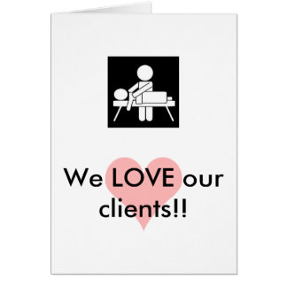 Massage Client Appreciation Card