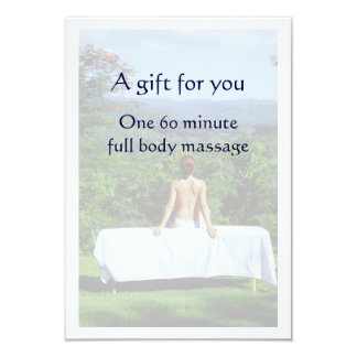 Massage Gift Certificate 3.5x5 Paper Invitation Card