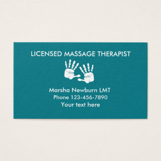 Massage Hands Design Business Card