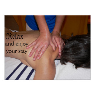 Massage Hands on Poster