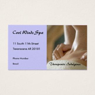 Massage hands photo business card