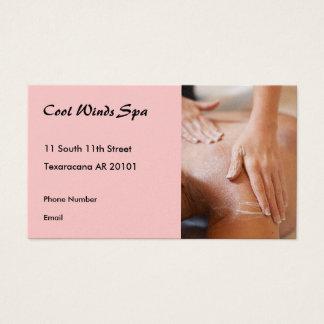 Massage hands photo II Business Card