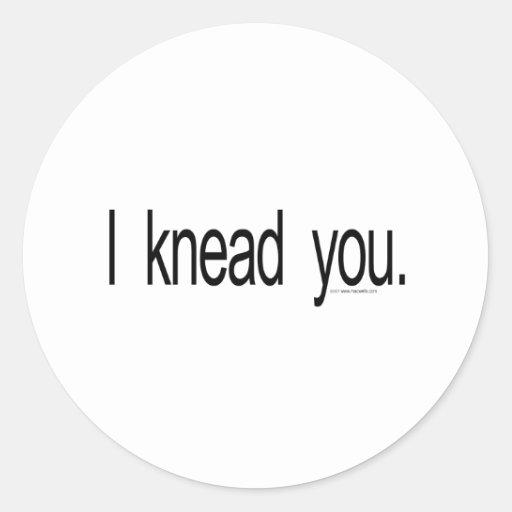 Massage - I knead you Sticker