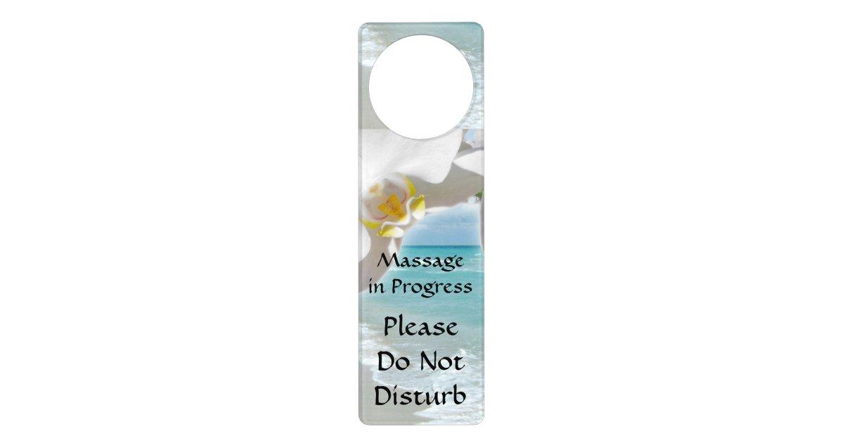Massage In Progress Do Not Disturb Door Sign Zazzle Com