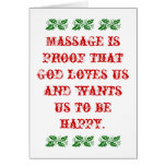 Massage is Proof that God Loves Us Christmas Card