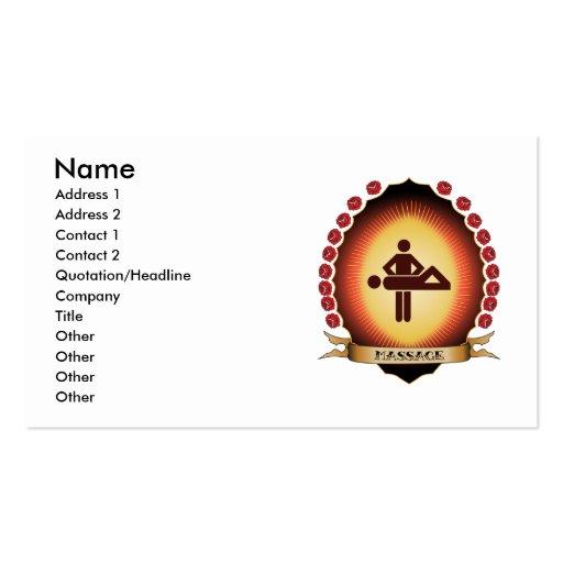 Massage Mandorla Business Card