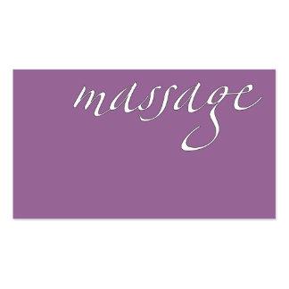 Massage: Massage Therapist Business Card