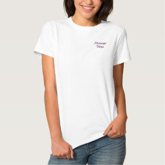 Massage Ninja Embroidered Shirt