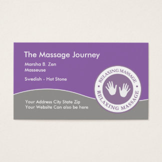 Massage Professional Business Cards