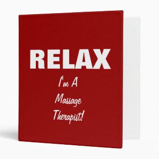 Massage Relax (customizable) Binder
