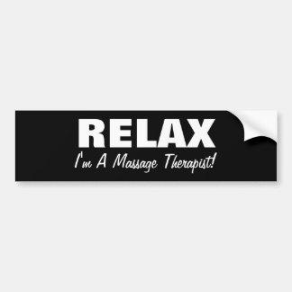 Massage Relax (customizable) Bumper Sticker