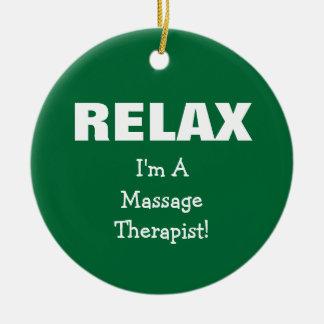 Massage Relax (customizable) Ceramic Ornament
