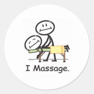 Massage Round Sticker