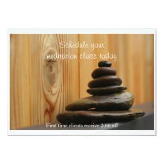 Massage Stones and Wood Card