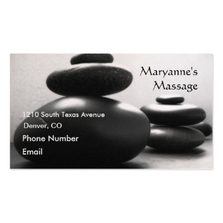 Massage Stones Double-Sided Standard Business Cards (Pack Of 100)