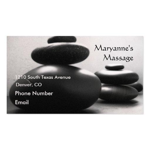 Massage Stones Business Cards