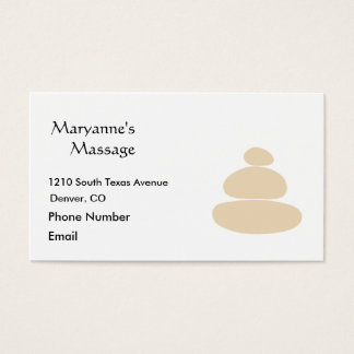 Massage Stones in Sand Simple Drawing Business Card