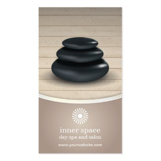 Massage Stones on Wood Spa Taupe Appointment