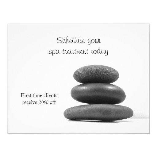 Massage Stones Personalized Invite