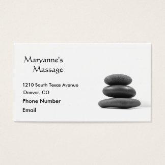 Massage Stones Photo Business Card