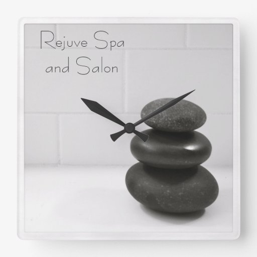 Massage Stones Photo Square Wall Clocks
