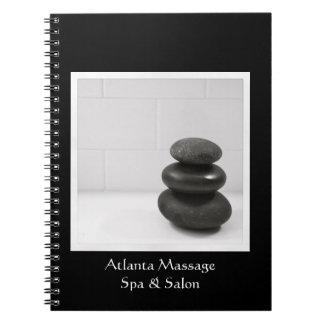 Massage Stones Photo Spiral Notebook