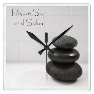 Massage Stones Photo Square Wall Clock