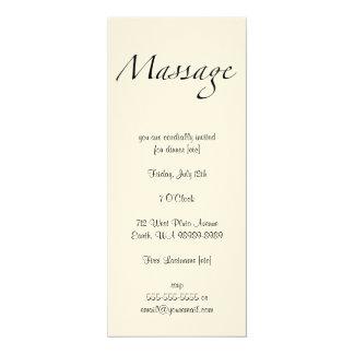 Massage Text 4x9.25 Paper Invitation Card