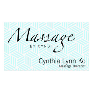 Massage Text Isometric Weave Double-Sided Standard Business Cards (Pack Of 100)
