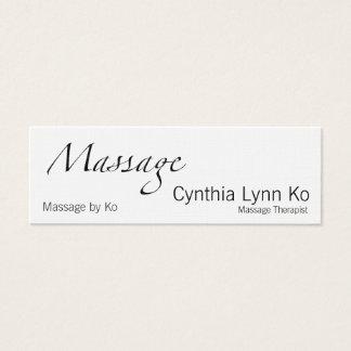 Massage Text w/ AMTA Mini Business Card