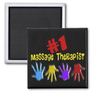 """Massage Therapist """"#1"""" Gifts Magnet"""