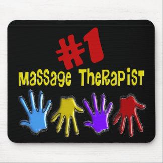 "Massage Therapist ""#1"" Gifts Mouse Pad"