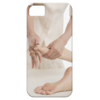 Massage therapist applying foot massage 2 iPhone SE/5/5s case
