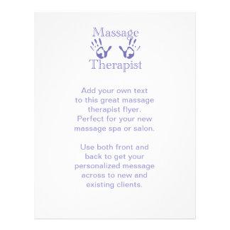 Massage Therapist: Blue Hand Prints Custom Flyer