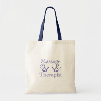 Massage Therapist: Blue Hand Prints Tote Bag